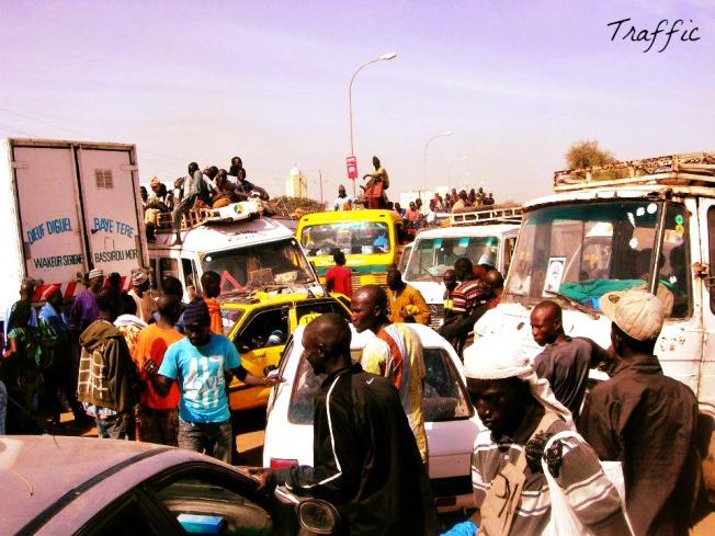 la route du retour après le Magal de Touba
