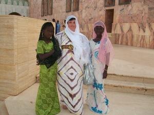 Mame lors de son premier voyage à Touba
