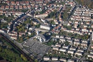 Vue aérienne de ma petite ville de Nilvange
